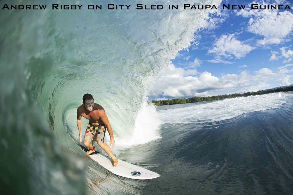 Andrew Rigby on City Sled in Paupa New Guinea