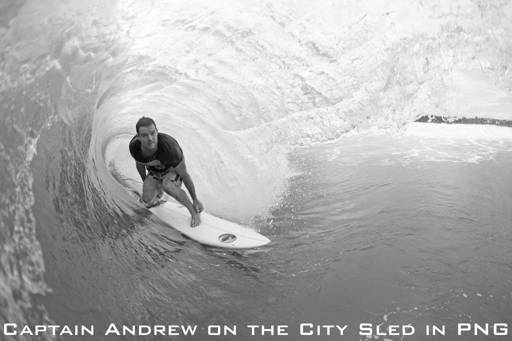 Captain Andrew on the City Sled in PNG_one