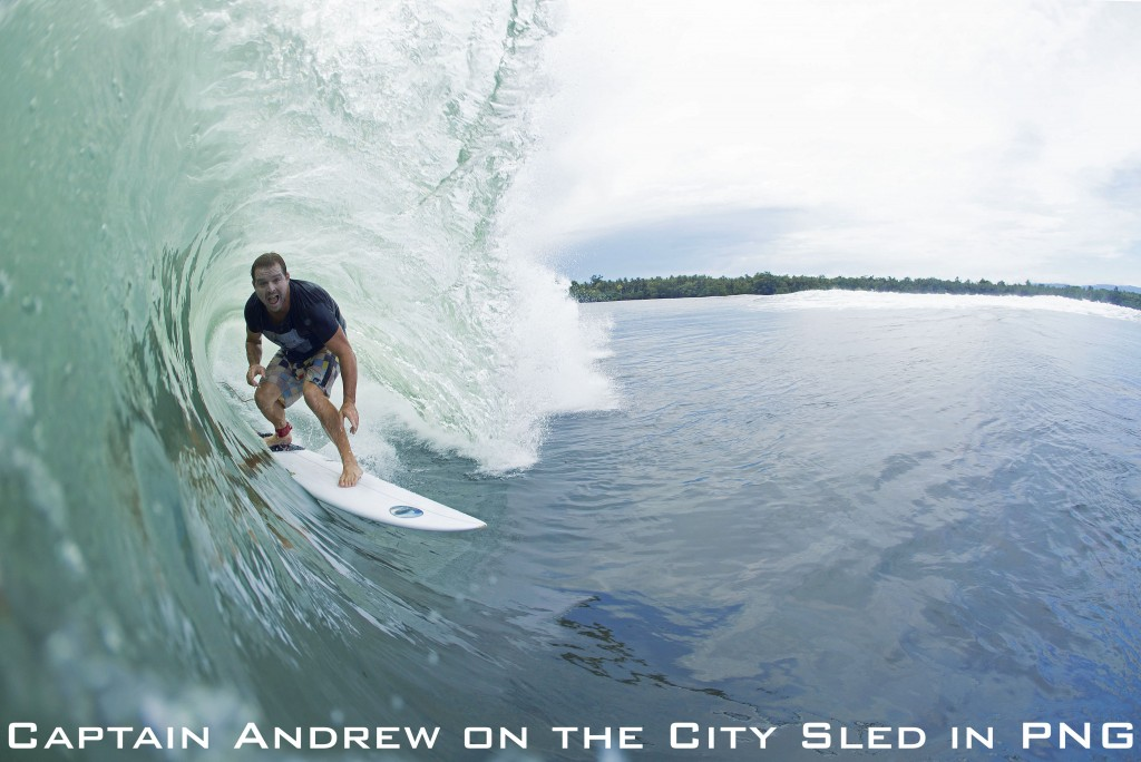Captain Andrew on the City Sled in PNG_two