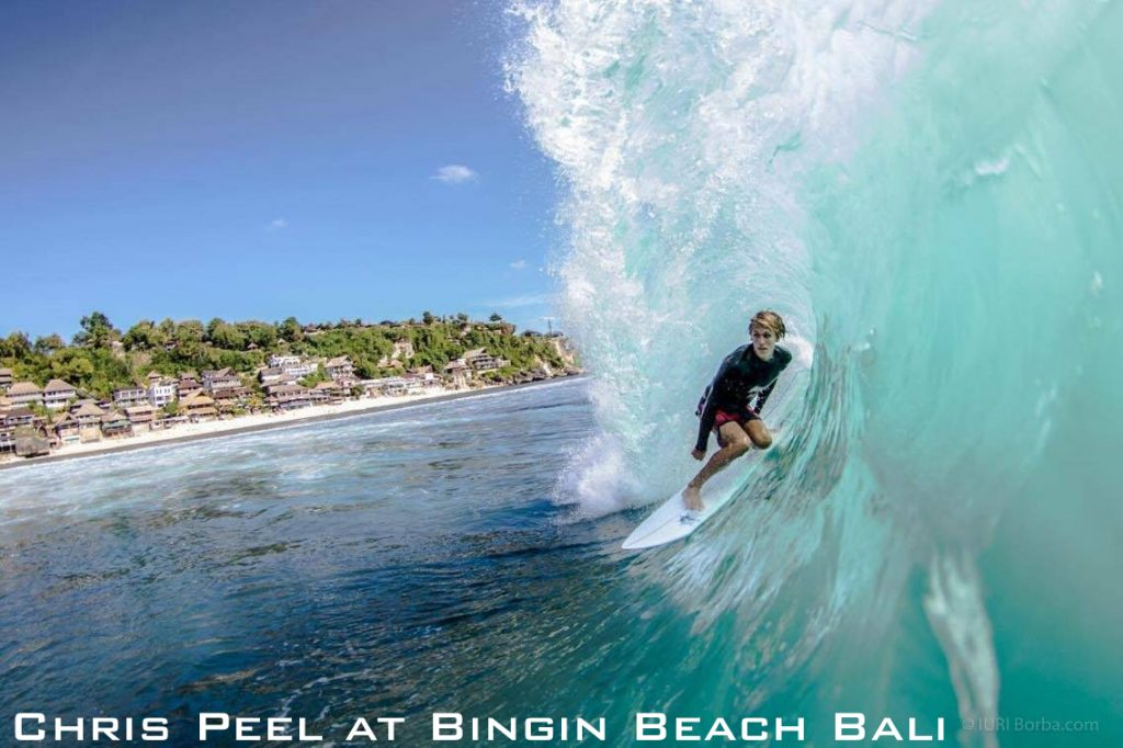 Chris Peel at Bingin Beach Bali