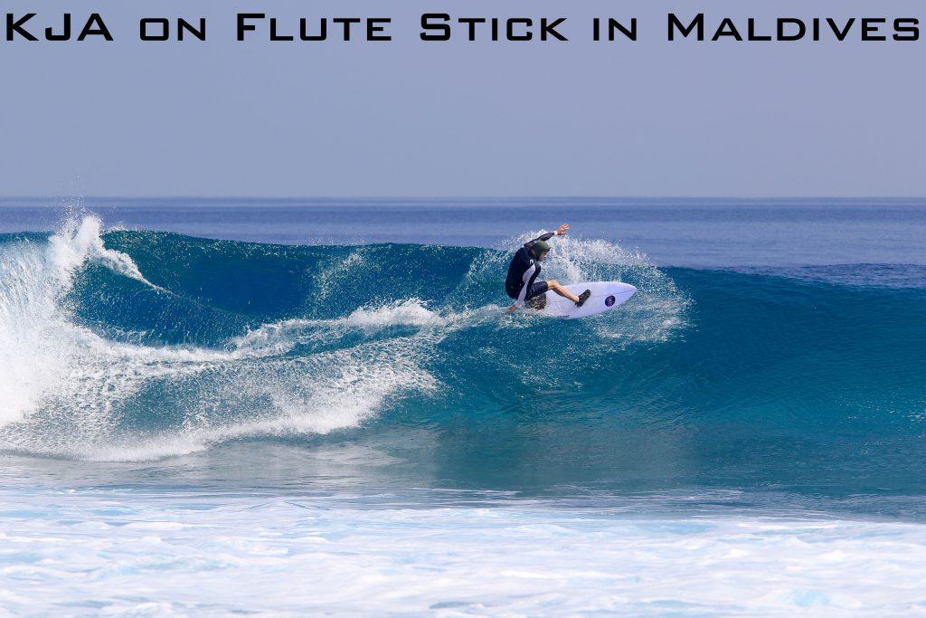 KJA on Flute Stick in Maldives