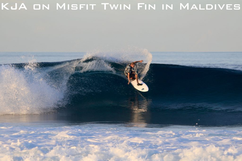 KJA on Misfit Twin Fin in Maldives