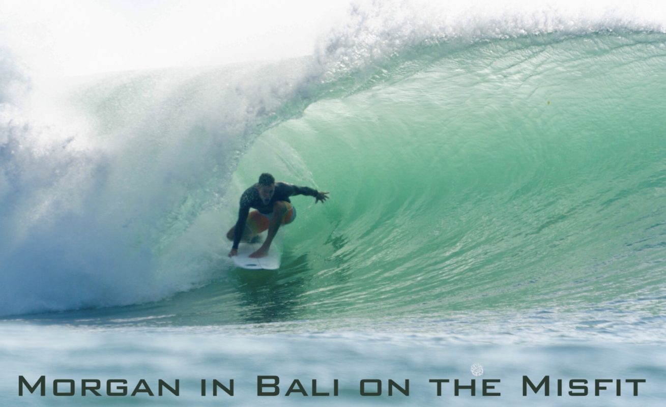 Morgan in Bali on the Misfit, one
