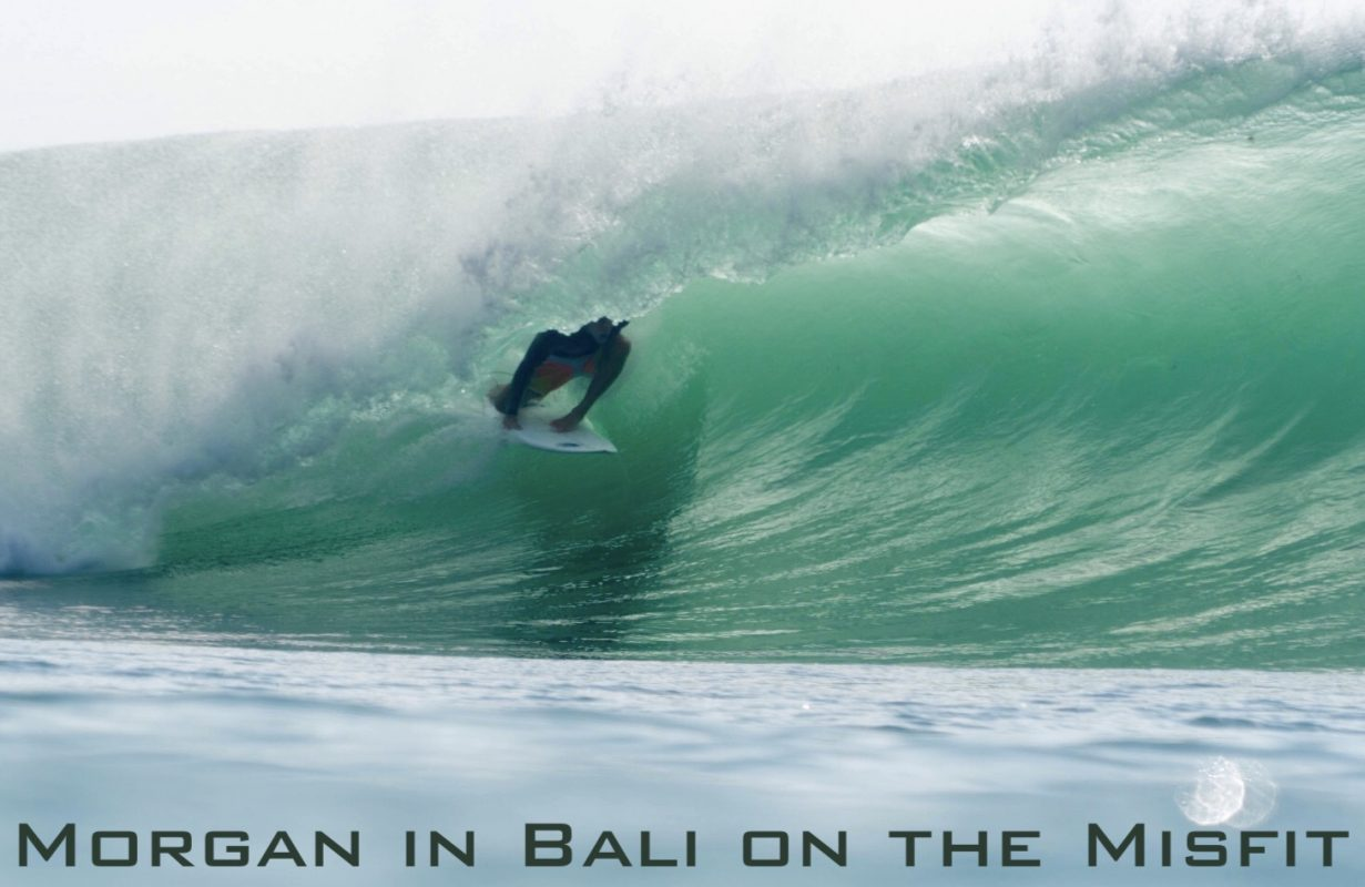 Morgan in Bali on the Misfit, two